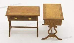 95b. Georgian Lyre End Work Table (90mm)
